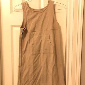 Cat & Jack Khaki Uniform Jumper Dress 10/12
